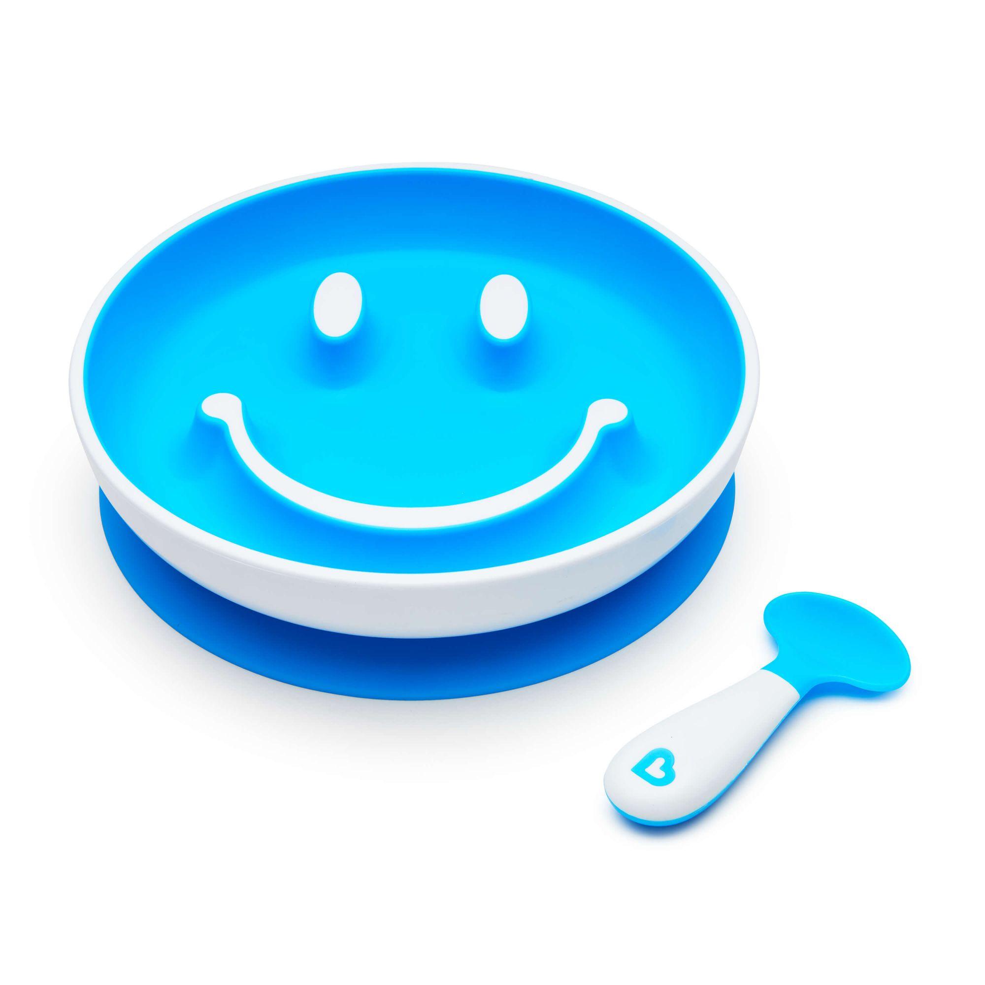 PRATO SMILE COM VENTOSA E COLHER - MUNCHKIN