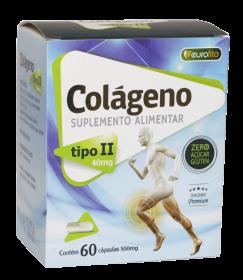 Colágeno Tipo II 40 mg - 60 cápsulas - Eurofito