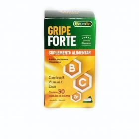 Gripe Forte 500mg (Complexo B, Vit C, Zinco) - 30 cápsulas - Eurofito