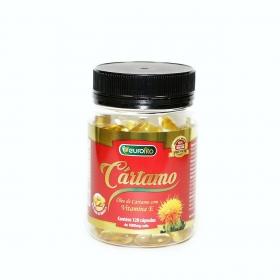 Óleo De Cartamo c/ Vitamina E 1000 Mg - 120 cápsulas soft gel - Eurofito