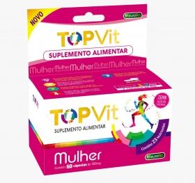 Top Vit Mulher 500mg (Polivitamínico) - 60 cápsulas - Eurofito
