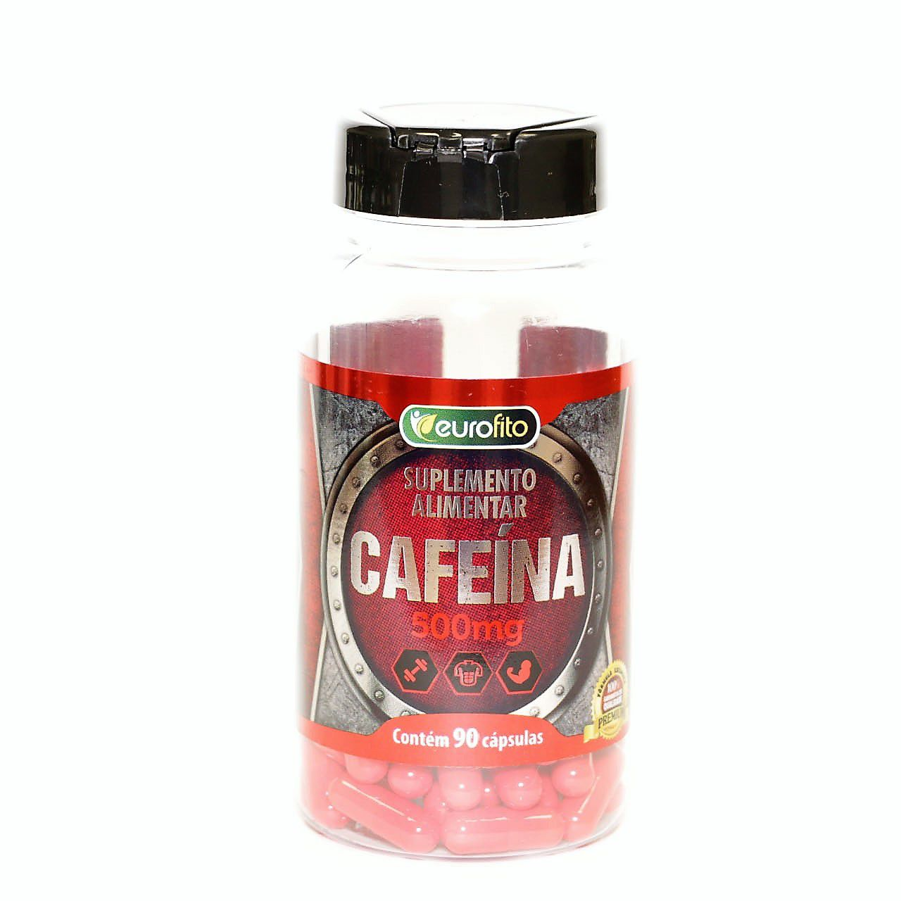 Cafeína 500 Mg - 90 cápsulas- Eurofito