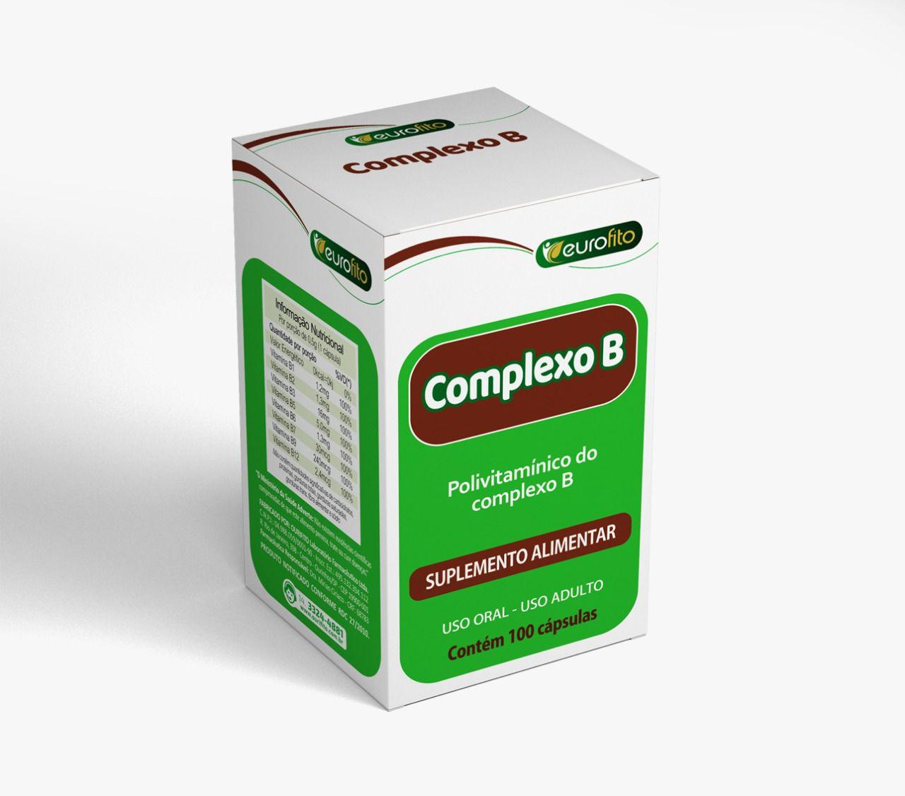 Combo Complexo B 500mg com 100 cápsulas - Eurofito - 6 caixas