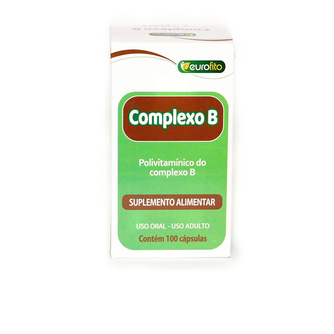 Complexo B 500mg (Concentrado C/ B12) - 100 cápsulas- Eurofito