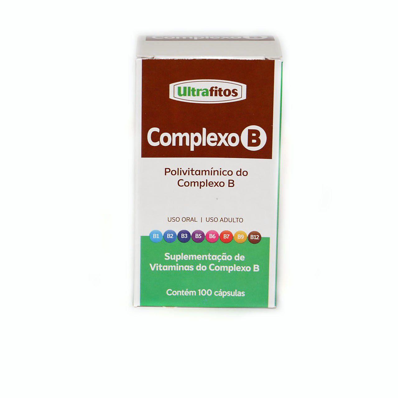 Complexo B 500mg (Concentrado C/ B12)  - 100 cápsulas - Ultrafitos
