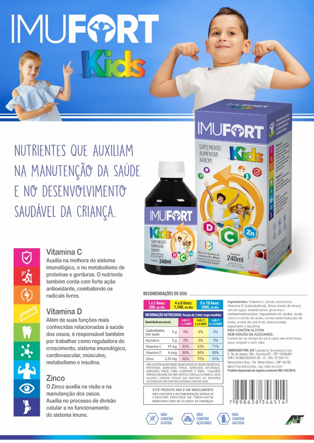Imufort Kids - 240ML | 1 Frasco