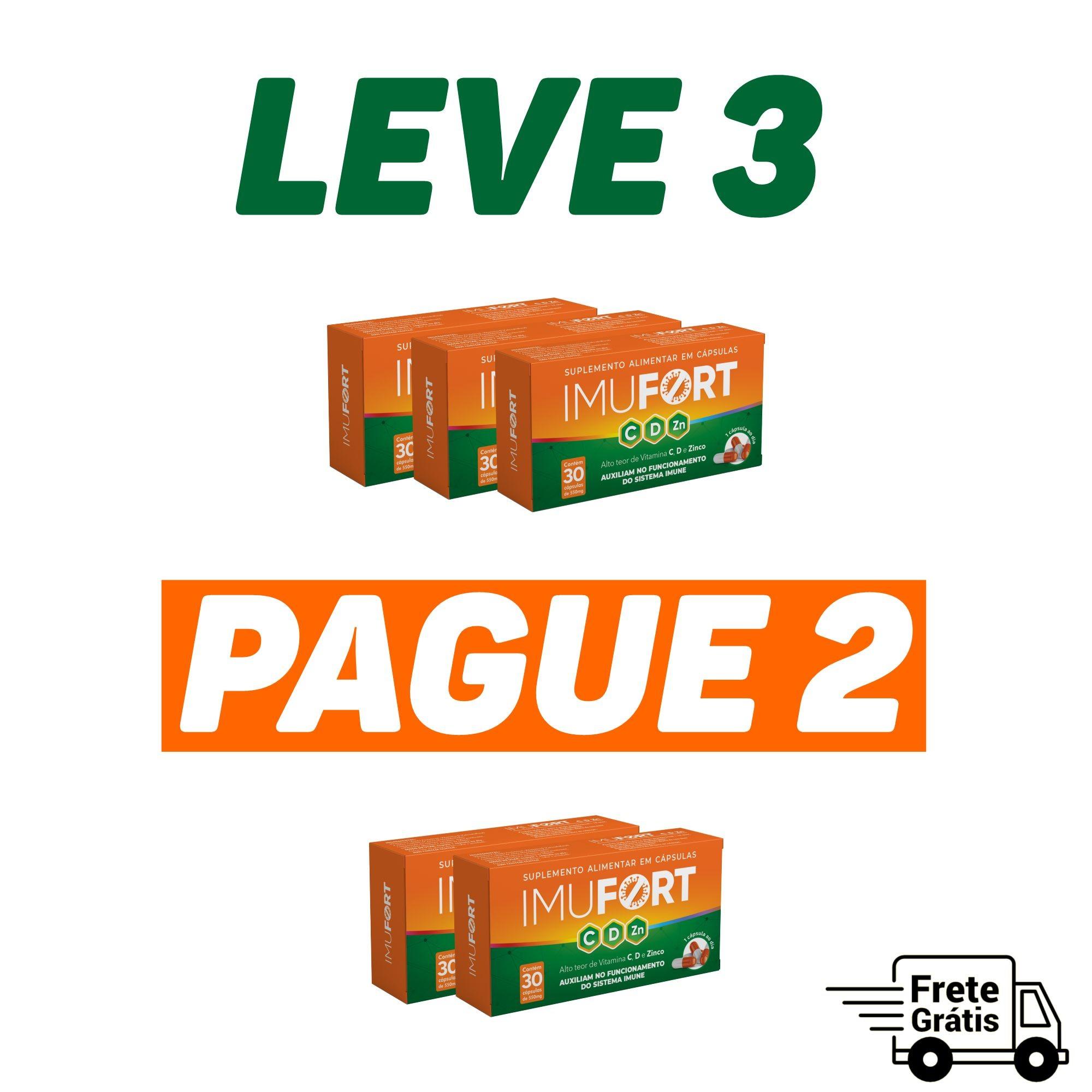 Imufort 550 Mg - 30 Cápsulas | LEVE 3 PAGUE 2