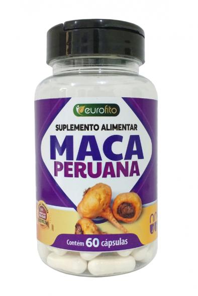 Maca Peruana 500mg - 60 cápsulas soft gel - Eurofito
