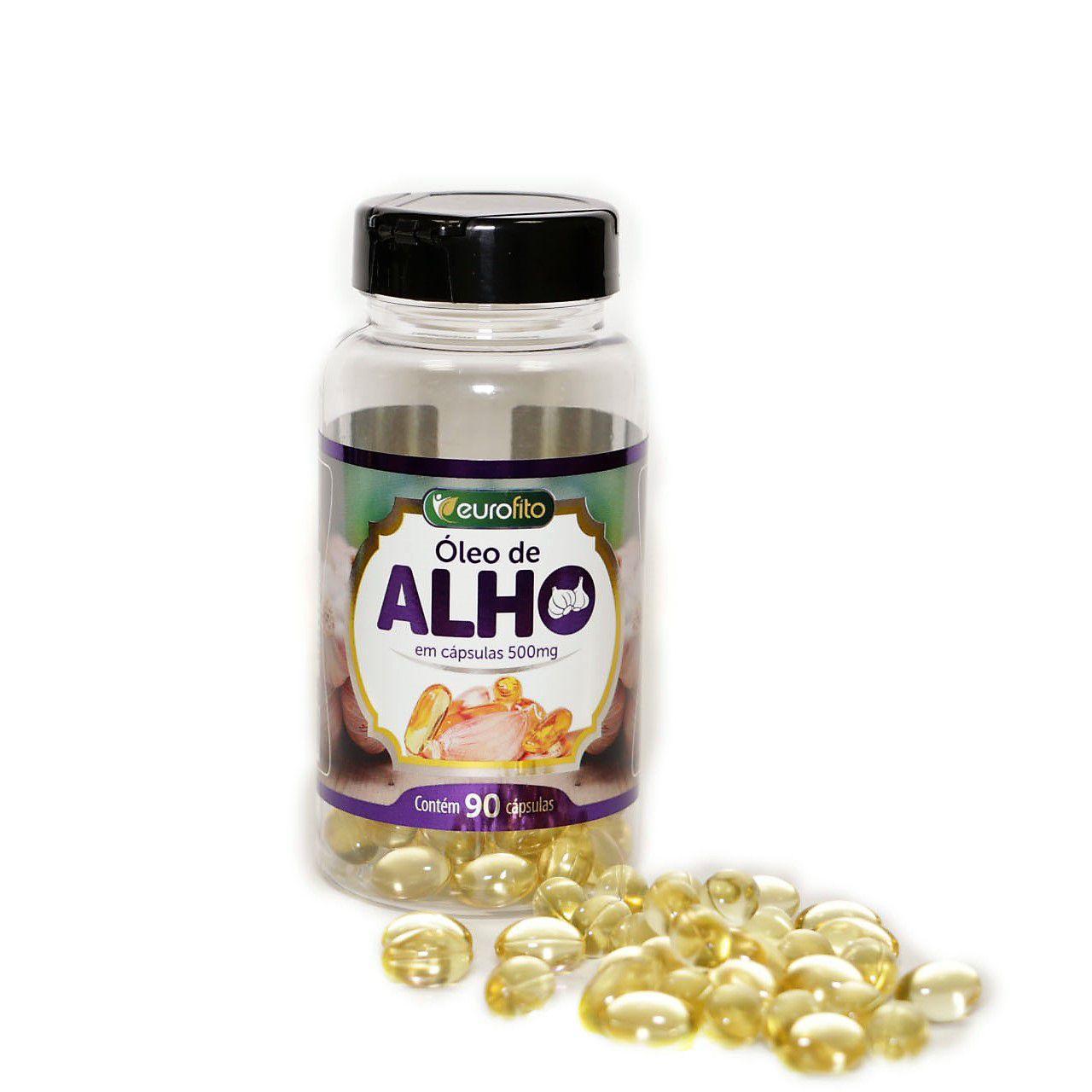 Óleo De Alho 500mg - 90 cápsulas soft gel - Eurofito
