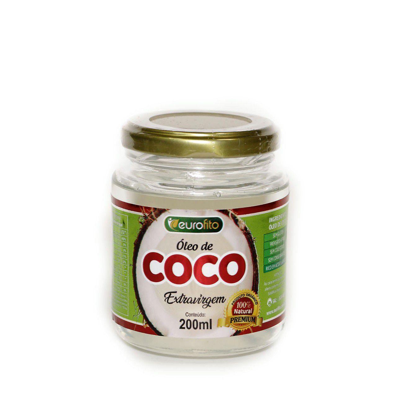 Óleo De Coco Extra Virgem (Pote Vidro) - 200ml - Eurofito