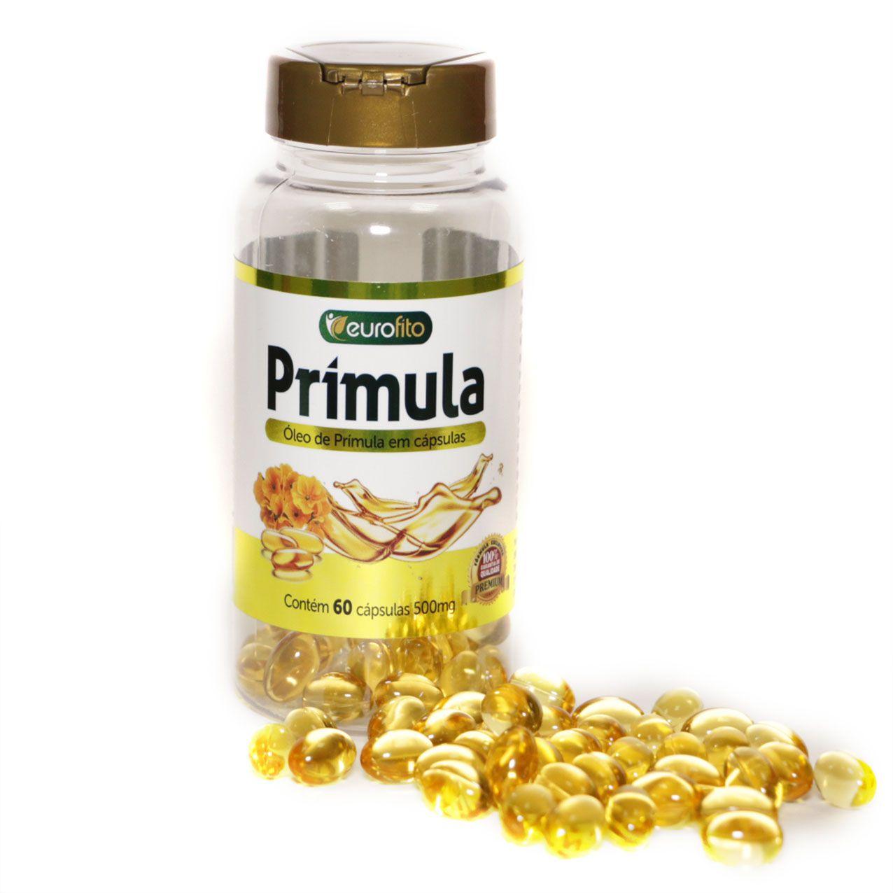Óleo De Primula 500 Mg -60 cápsulas soft gel - Eurofito