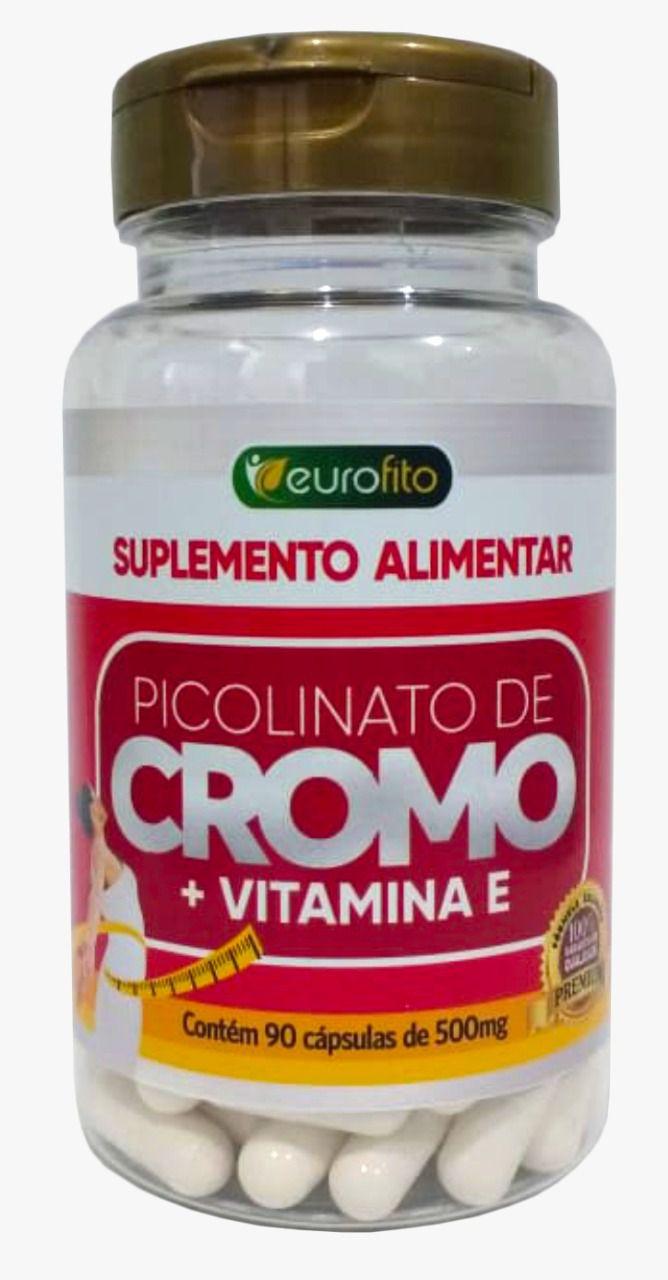 Picolinato De Cromo + Vitamina E  - 90 cápsulas - Eurofito