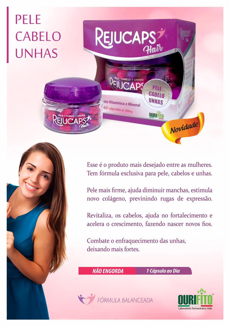 Rejucaps Hair (Cabelo, Pele E Unhas) - 60 cápsulas -  Eurofito