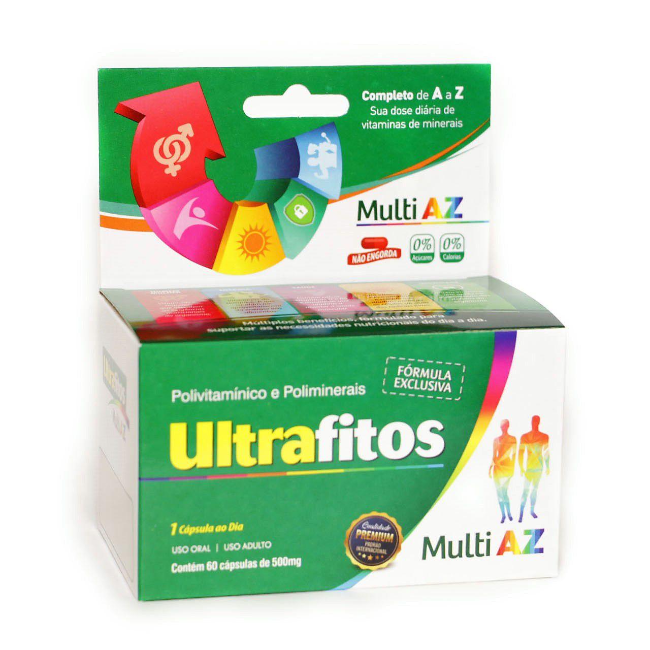 Ultrafitos Multi Az 500 Mg (Polivitamínico) - 60 cápsulas - Ultrafitos