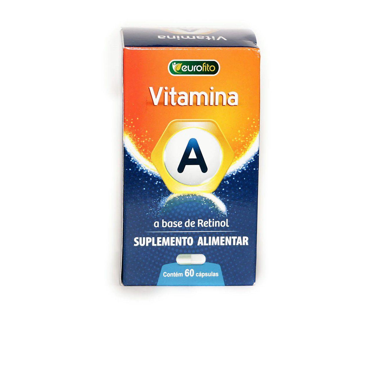 Vitamina A (À Base de Retinol) - 60 cápsulas - Eurofito