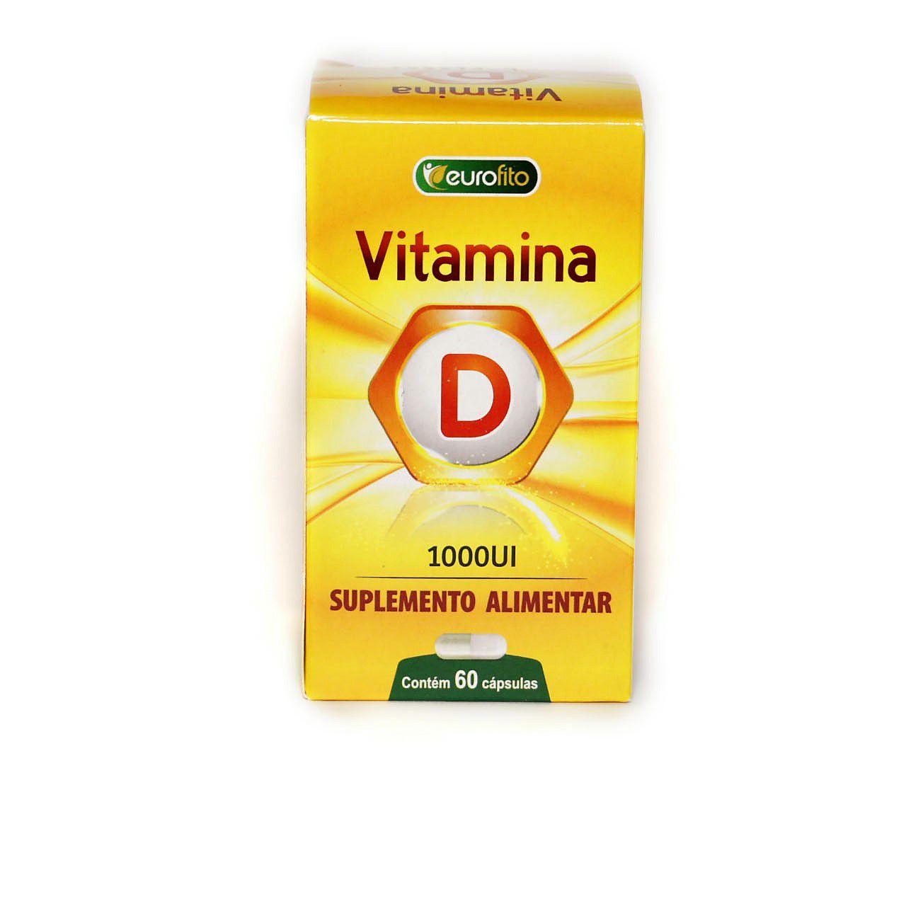 Vitamina D 1000ui - 60 cápsulas -  Eurofito