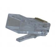 Conector Modular Plug 8x8 RJ45 CAT 6 Hikari - Conjunto 10 Peças
