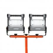 Conjunto 2 Refletor Recarregável LED Solver SLP-501 (Acompanha 2 Refletor e 1 Tripé SLP-TP1)