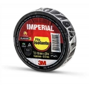 Fita Isolante Anti-Chama 18mm x 20M Imperial Slim Preta 3M