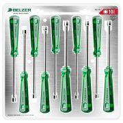 Jogo de Chaves Canhão tipo Industrial com 10 Peças de 4 a 13mm Belzer 252010BN