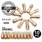 Kit 10 Pinças Para Micro Retífica Dremel