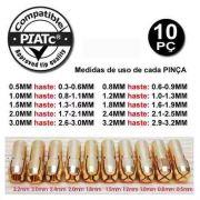 Kit 10 Pincas Para Micro Retifica Tipo Dremel