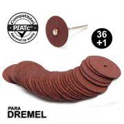 Kit 36 Disco De Corte P/ Micro Retífica Dremel + 1 Haste 420