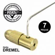 Kit De Pinças Micro Retífica Dremel Mandril Para Motor 7 Pç