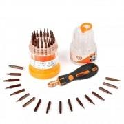 Kit Ferramentas Multifuncional 37 EM 1 Profissional Jakemy JM-8117 (Caixa com 10 Kits)