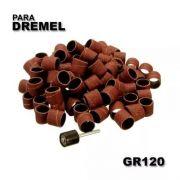 Kit Lixa P/ Micro Retifica Dremel Gr120 1/2 + Haste C/50 Pcs