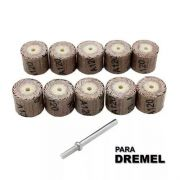 Kit Roda Lixa P/ Micro Retifica Dremel Gr120 C/10 Pc + Haste