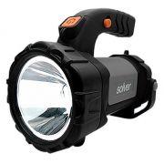 Lanterna Holofote Pro Recarregável LED Cree Solver SLP-401