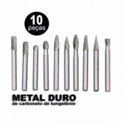 Lima E Fresa Rotativa Metal Duro Tungstênio Retifica C/10 Pç