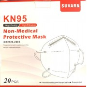 Mascara Descartável KN95 4 Camadas com Elástico (Caixa 20 peças)