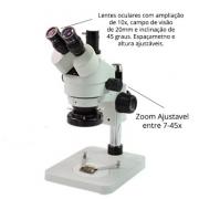 Microscópio Trinocular Simul Focal 07-45X