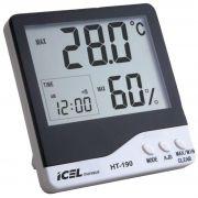 Relógio Termo-Higrômetro Digital Icel HT-190