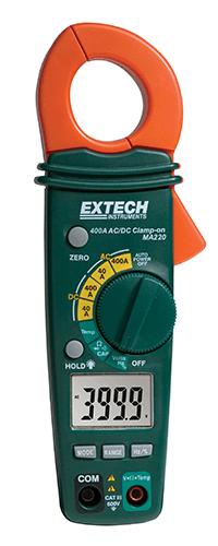Alicate Amperímetro 400A AC / DC Extech MA220  - MRE Ferramentas