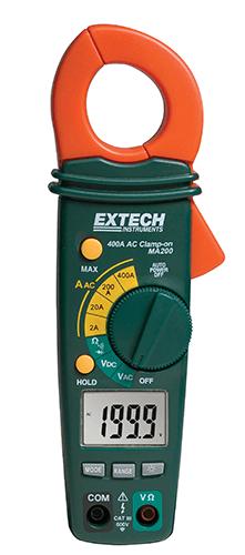 Alicate Amperímetro 400A AC Extech MA200 (Refurbished)  - MRE Ferramentas