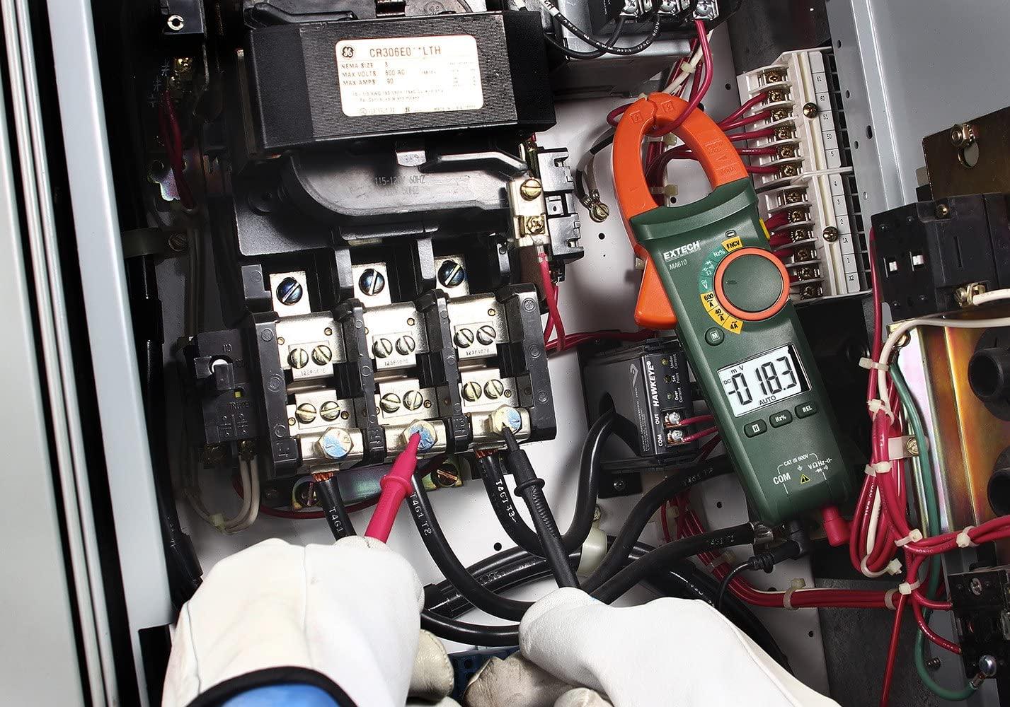 Alicate Amperímetro AC 600A + NCV Extech MA610  - MRE Ferramentas