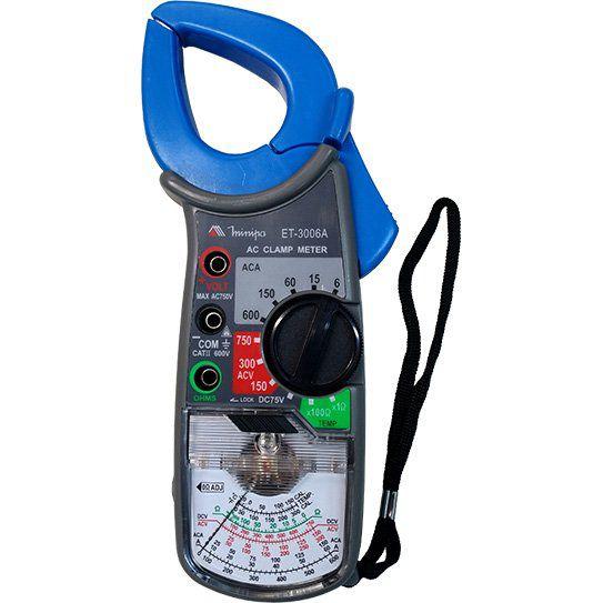 Alicate Amperímetro Analógico Minipa ET-3006A  - MRE Ferramentas