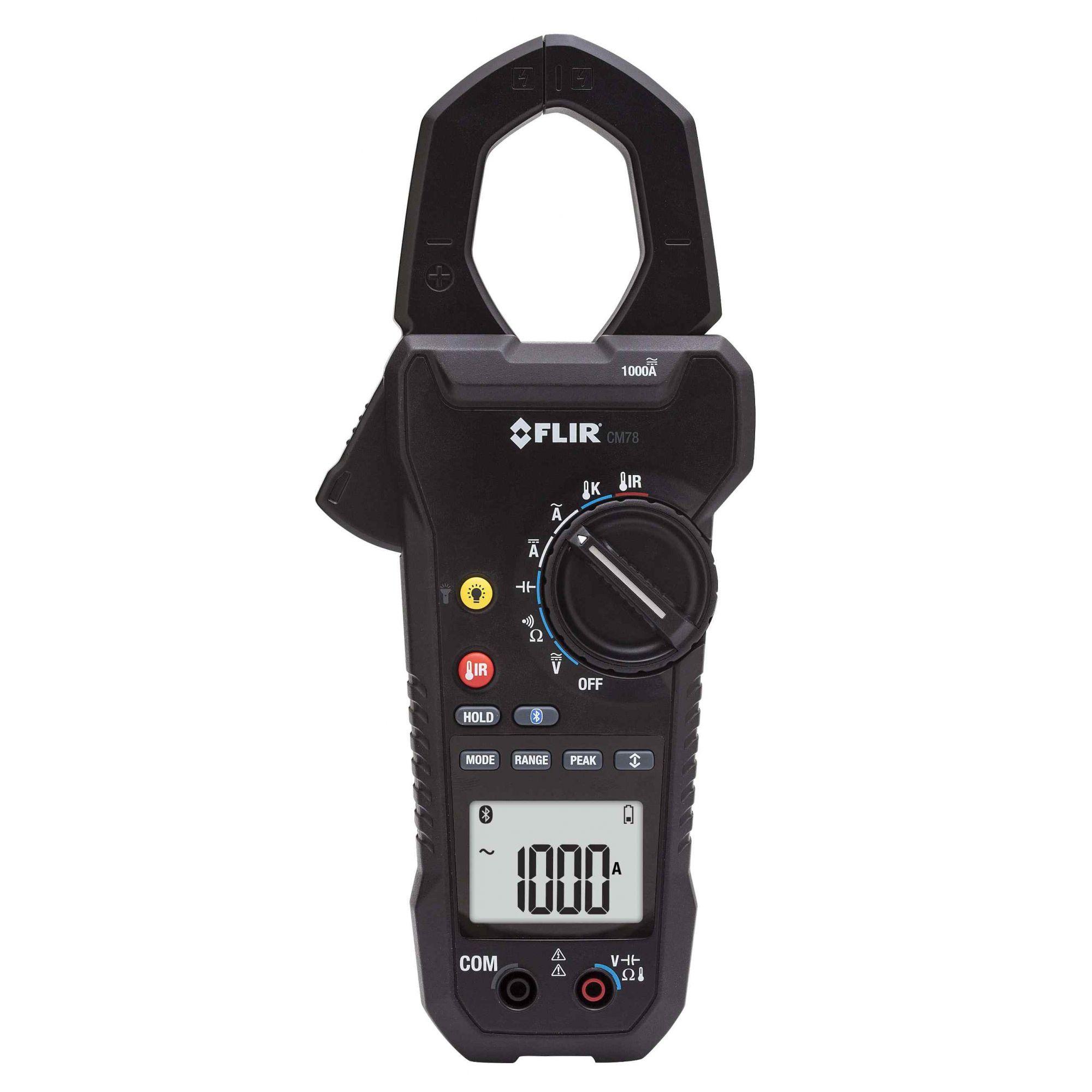 Alicate Amperímetro Digital Com Termômetro IR Flir CM78  - MRE Ferramentas