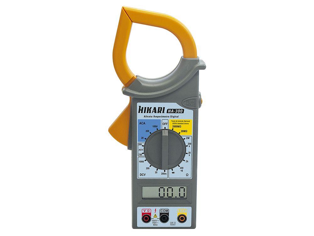 Alicate Amperímetro Digital Hikari HA-300  - MRE Ferramentas
