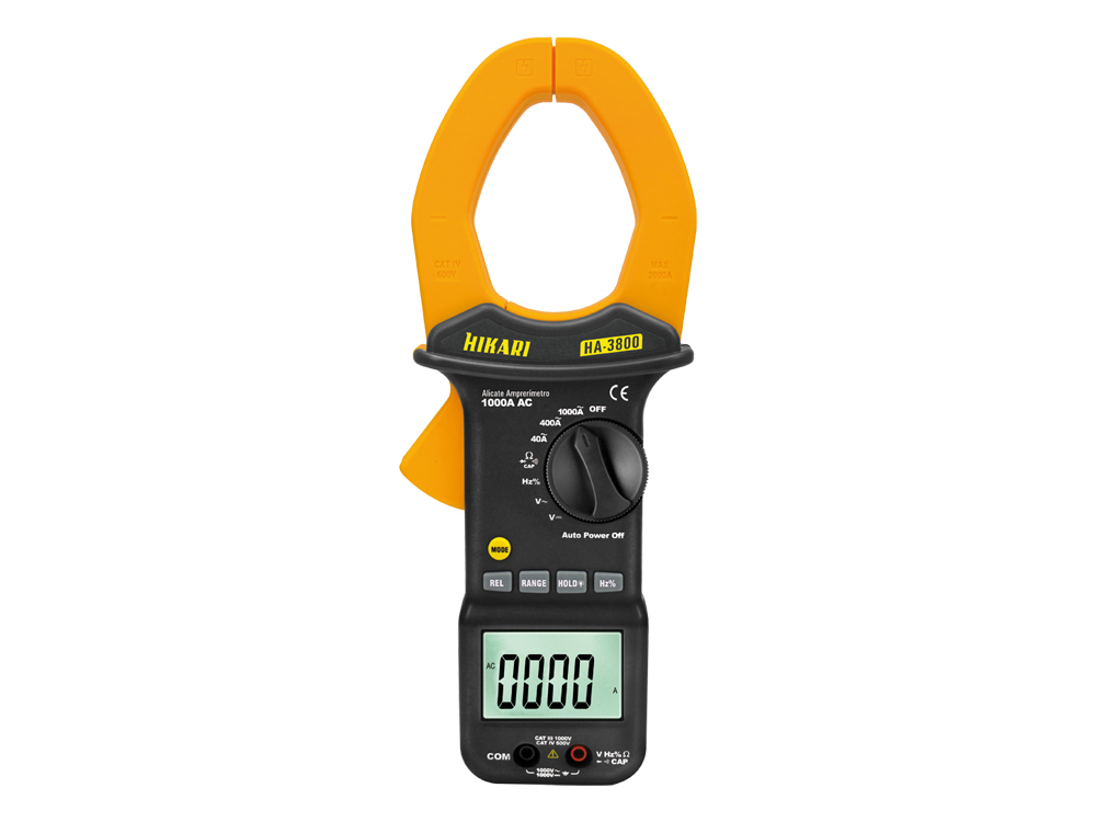 Alicate Amperímetro Digital Hikari HA-3800  - MRE Ferramentas