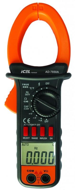 Alicate Amperímetro Digital Icel AD-7850A  - MRE Ferramentas