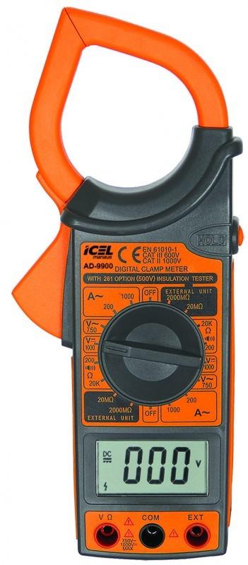 Alicate Amperímetro Digital Icel AD-9900  - MRE Ferramentas