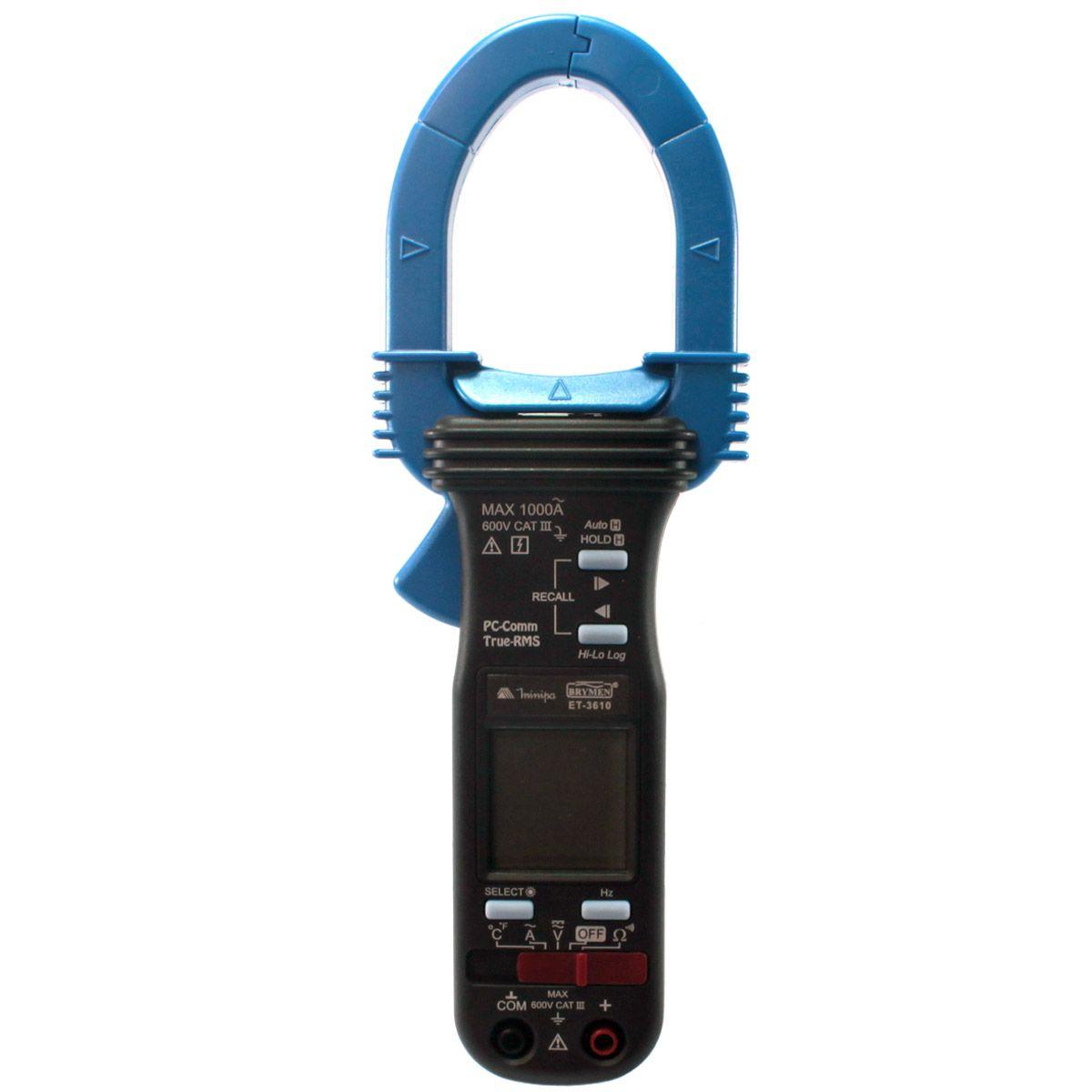 Alicate Amperímetro Digital Minipa ET-3610  - MRE Ferramentas