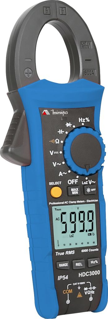 Alicate Amperímetro Minipa HDC-3000  - MRE Ferramentas