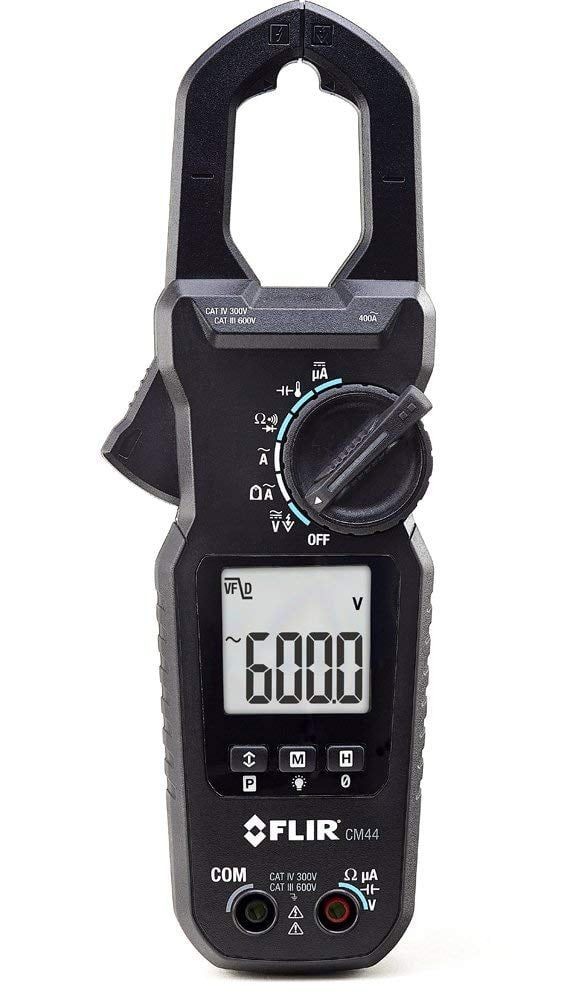 Alicate Amperímetro TRUE RMS 400 ACA + 2000 MICRO ACC, Tipo K CAT IV Flir CM44  - MRE Ferramentas