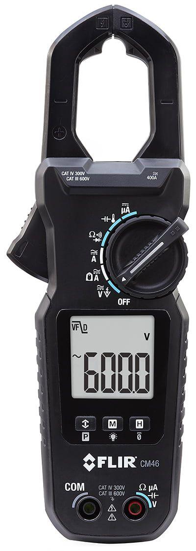 Alicate Amperímetro TRUE RMS com Corrente CC Flir CM46  - MRE Ferramentas