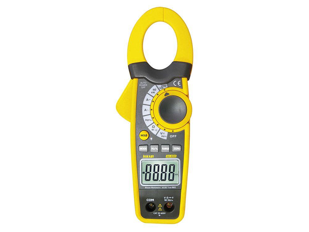 Alicate Wattímetro Digital Hikari HA-4000  - MRE Ferramentas
